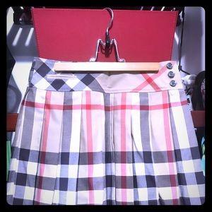 NWT BURBERRY check plaid skirt